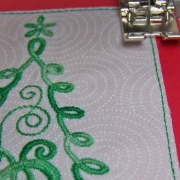 Embroidered Tree Christmas Card