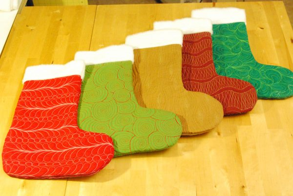 Free-Motion Christmas Stocking Tutorial