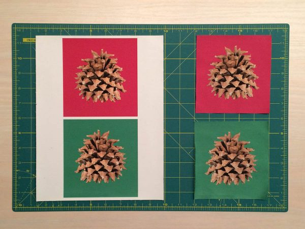 Holiday Coasters Tutorial - Pine Cone image printed on fabric