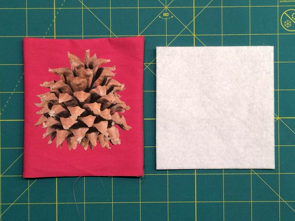 Holiday Coasters Tutorial - Cut a small piece of heavyweight fusible interfacing