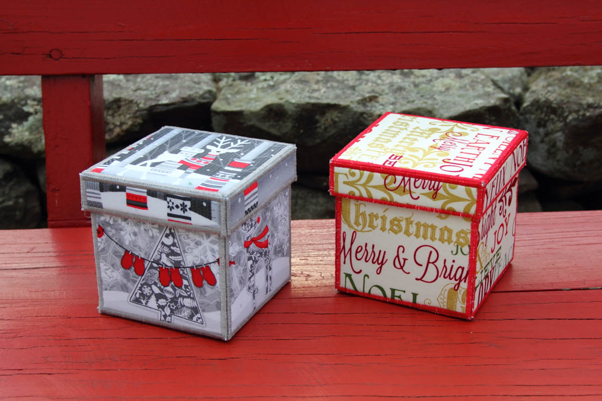 Holiday Fabric Boxes Weallsew