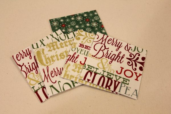 Holiday Fabric Boxes - preparing the fabric