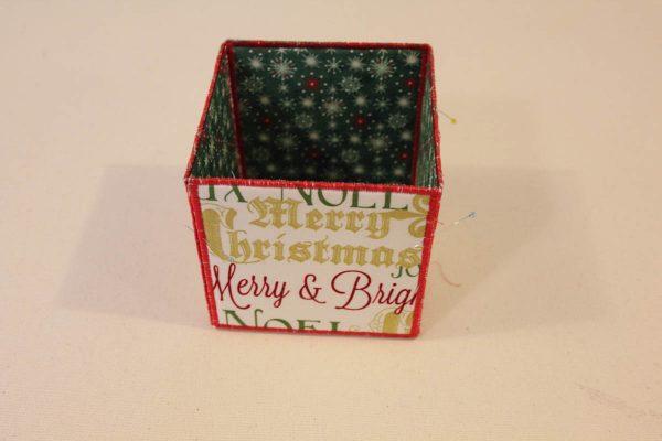 Holiday Fabric Boxes - Bottom