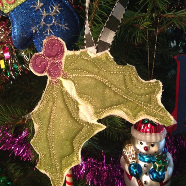 Holly Jolly Ornament Tutorial