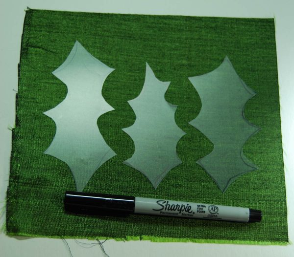 Holly Leaf Ornament - Trace the pattern