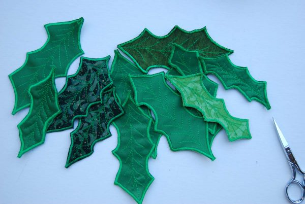 Holly Leaf Ornament - Holly Leaf Ornament - cut out leafs