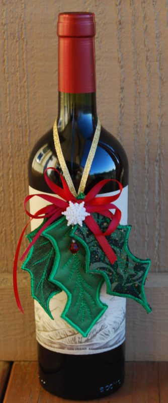 Holly Leaf Ornament decorated