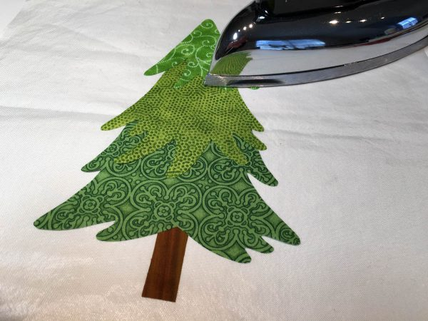 Mantel Cover Tutorial - fuse trees on applique press sheet
