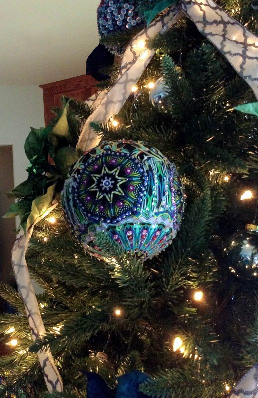Opulent Ornaments on Christmas Tree