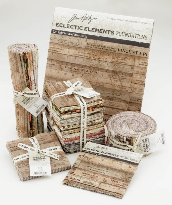 Eclectic Elements Fabric Collection by Tim Holtz