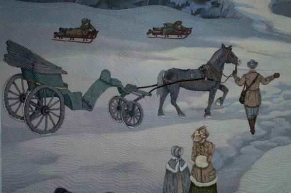 Carriage & man leading