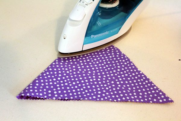 Chalk Cloth Flags - pressing