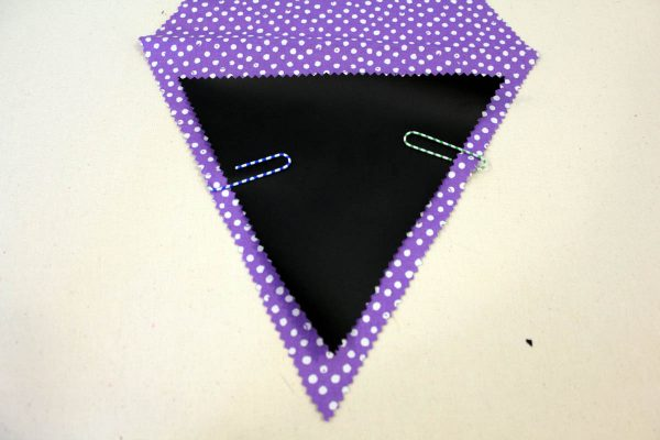 Chalk Cloth Flags - position chalk cloth pattern piece