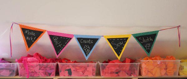 Chalk Cloth Flags Tutorial