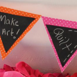 Chalk Cloth Flags Tutorial