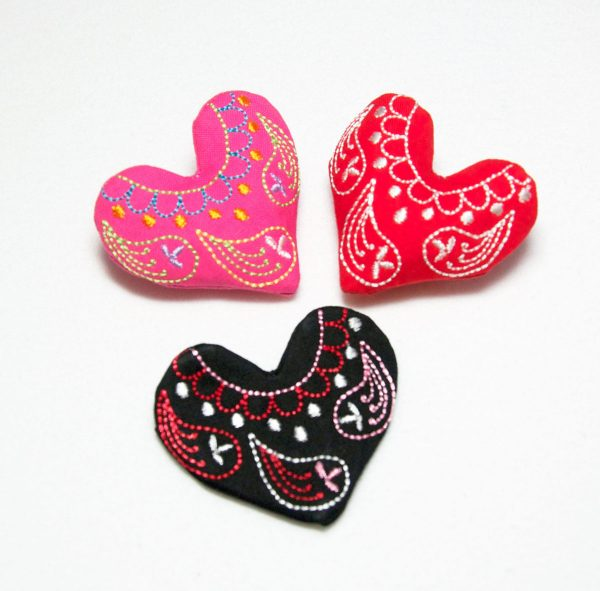 Embroidered Heart Pin Tutorial