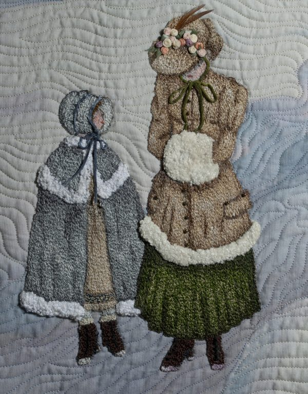 Woman with muff & girl