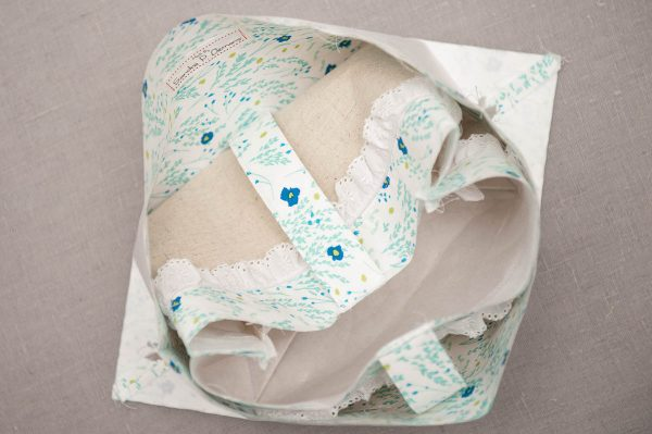 Easter Fabric Basket Tutorial - Turn the exterior unit right sides out