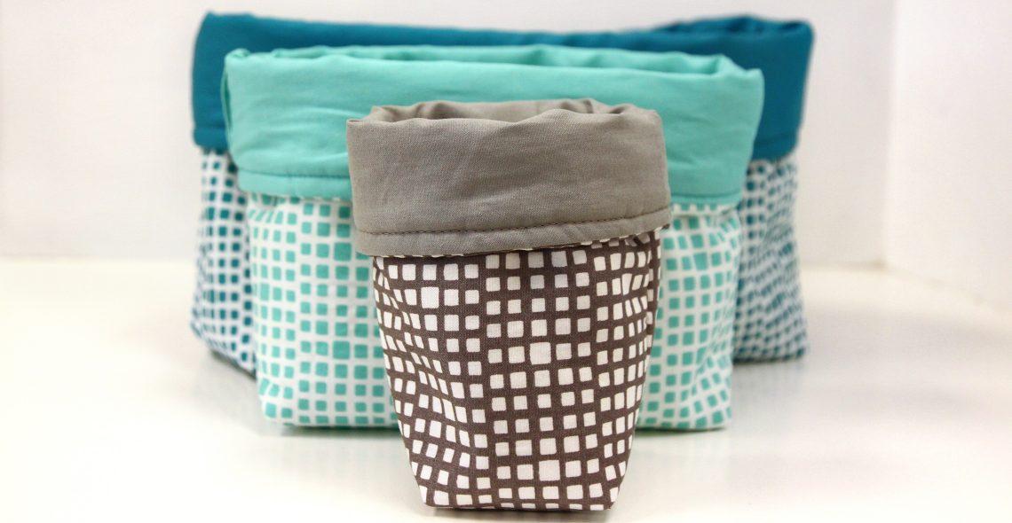 Fabric Bin Tutorial WeAllSew