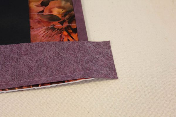 Fabric Message Board Tutorial - attach binding strip to the shorter edges