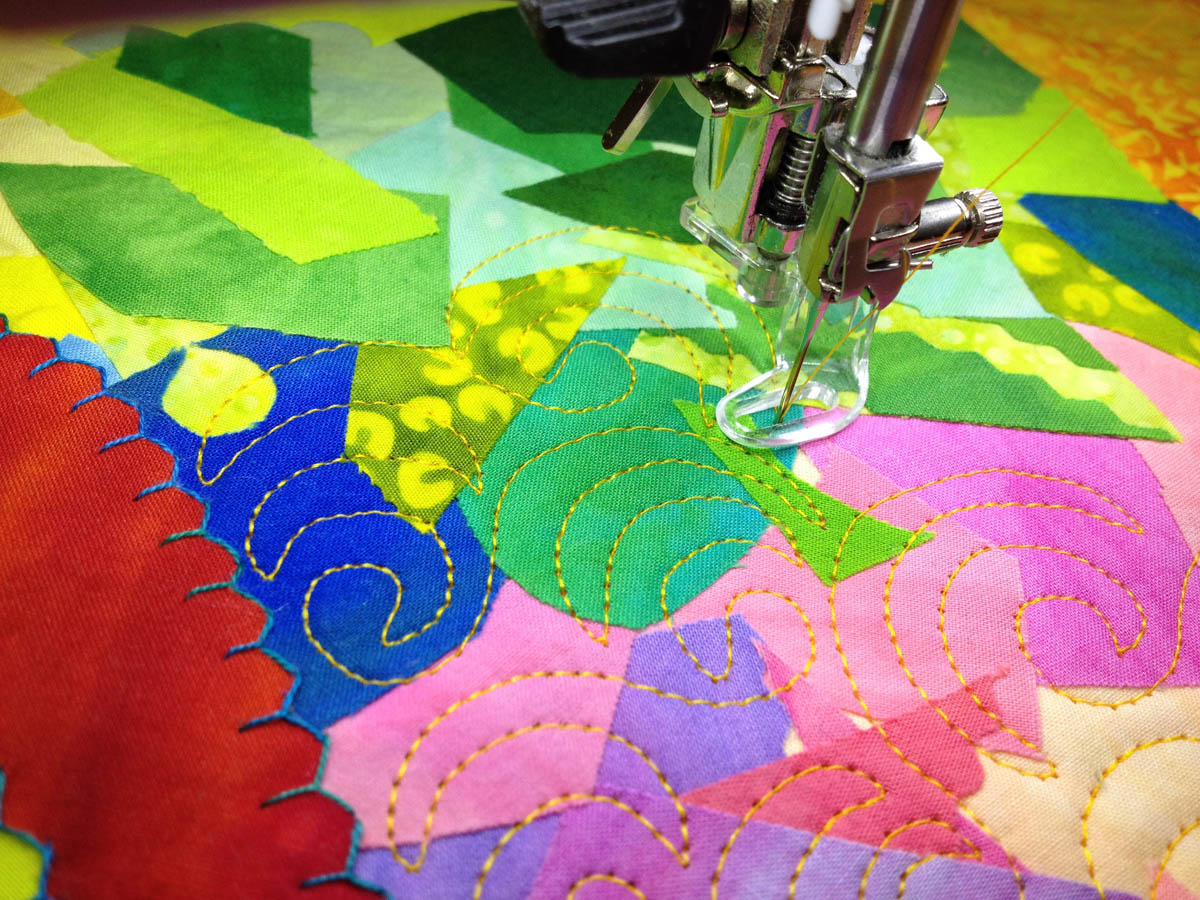 best sewing foot for fused collages weallsew