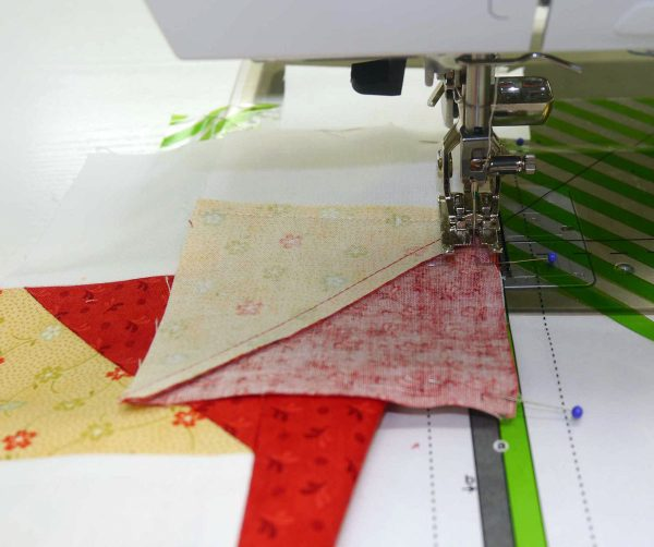 Piecing partial seams in quiting