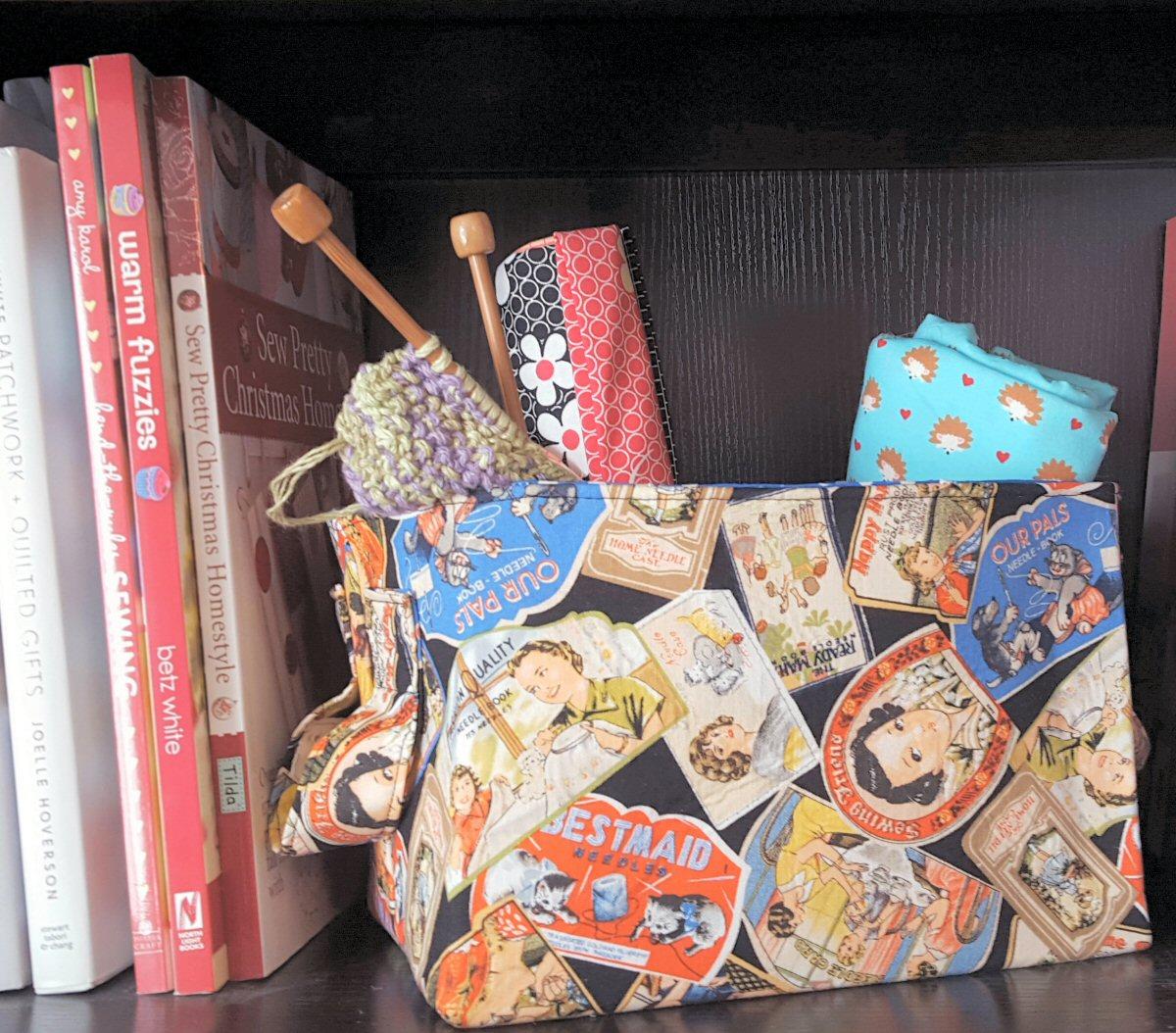 Basket making materials : Fabric organizer baskets weallsew bernina usa s