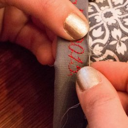 Quilt binding with words tutorial
