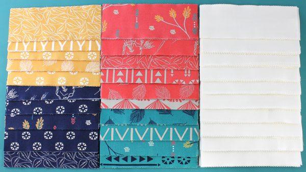 Cut the precut fabric strips.