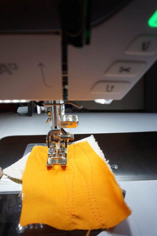 Anatomy of an art quilt - test stitching