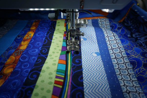 Anatomy of an art quilt - stitch in the ditch