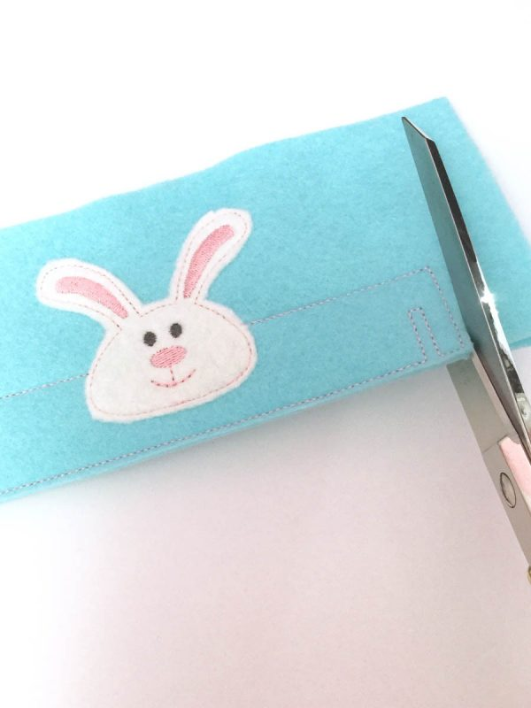 Bunny Easter Egg Holder - Trim around the project leaving a small border