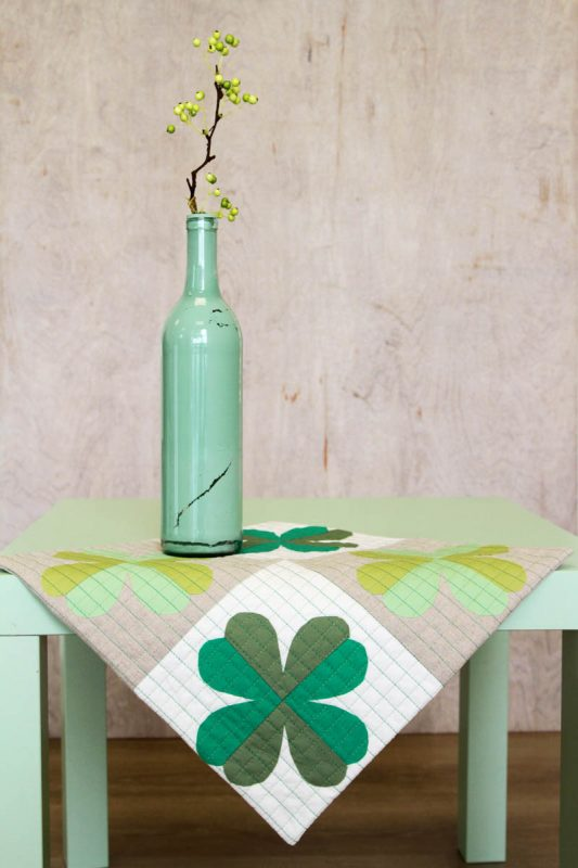 Four Leaf Clover Table Topper Video Tutorial
