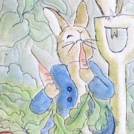 Peter Rabbit wall hanging tutorial