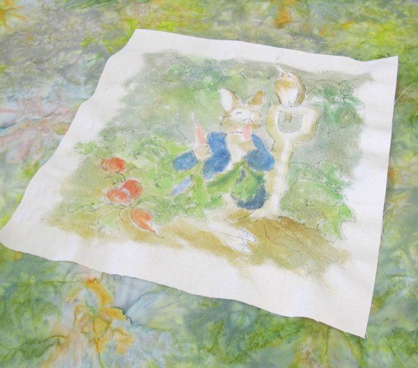Peter Rabbit Wall Hanging - batting and backing
