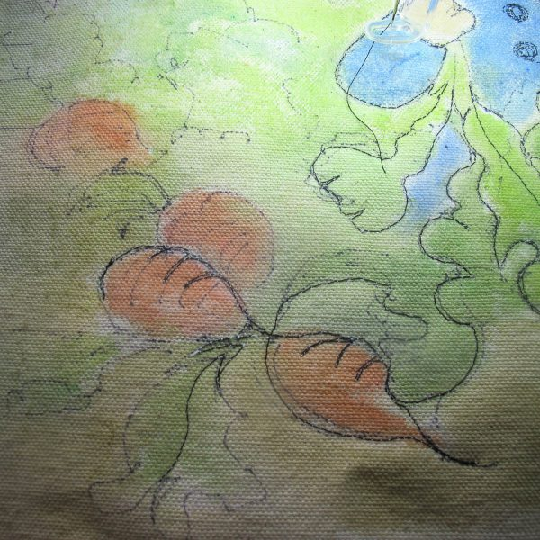 Peter Rabbit Wall Hanging - thread painting