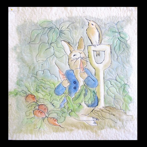 Peter Rabbit Wall Hanging - finsihed