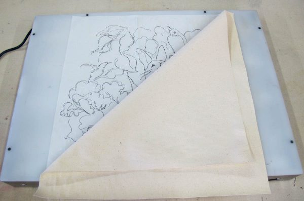 Peter Rabbit Wall Hanging - tracing with a light box