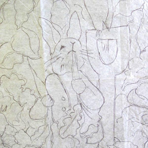 Peter Rabbit Wall Hanging - tracing