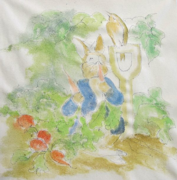 Peter Rabbit Wall Hanging - painting step 4