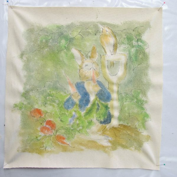 Peter Rabbit Wall Hanging - finished painting