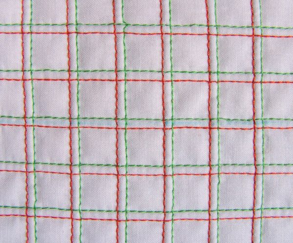Quilting with Twin Needle Tip - sewing a grid