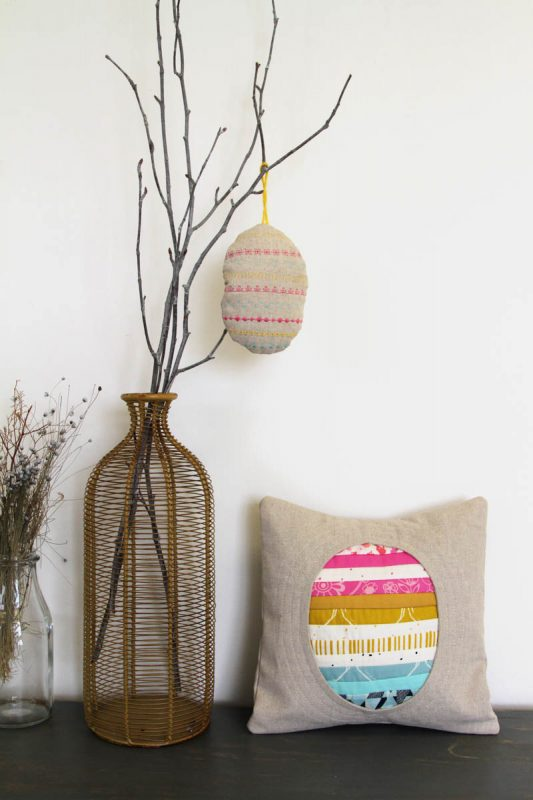 Spring Tidings Pillow and Egg Ornament