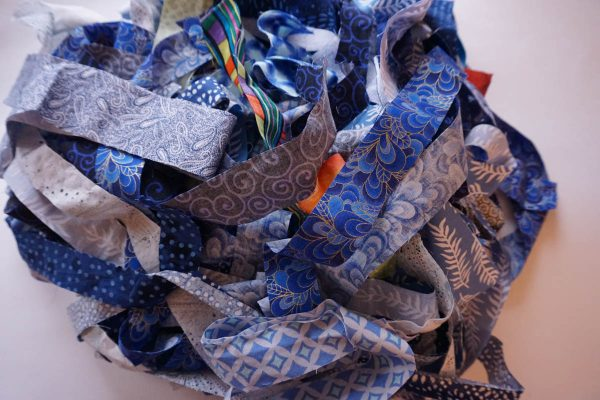 The Anatomy of an Art Quilt - Pile of Fabric Strips