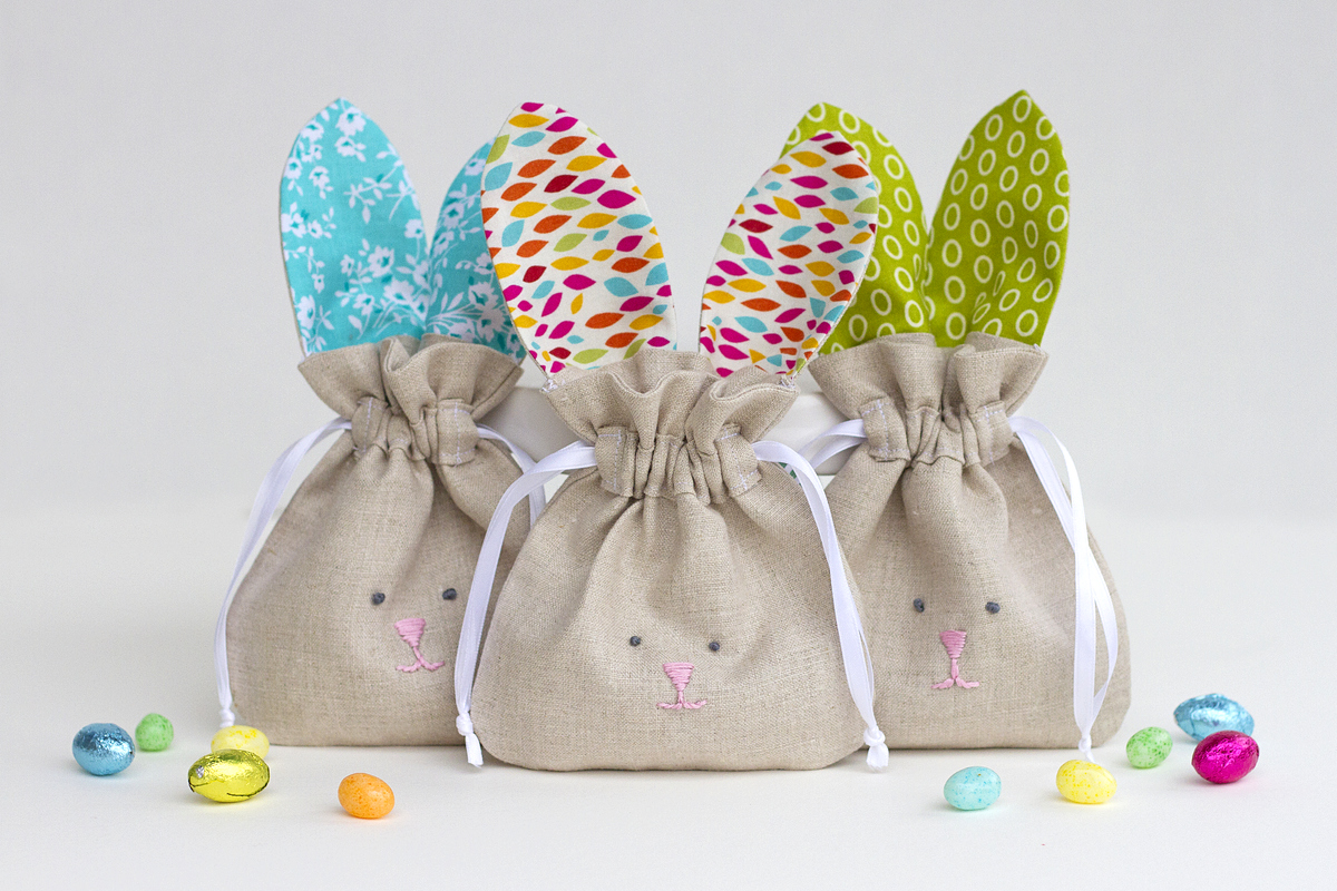 Today i m sharing these simple drawstring bunny bags that are really