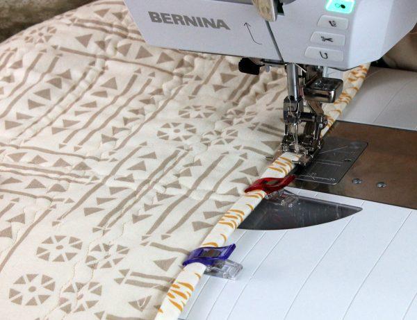 Stitch the binding.