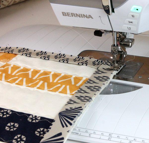 Sew from corner.