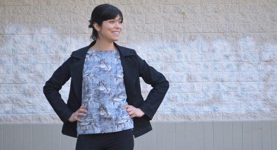 BERNINA Ambassador Daniela Paz Gutierrez Diaz - santiago jacket
