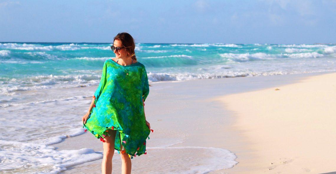 Easy beach caftan tutorial