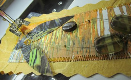 Collaged and Stitched Bookmarks